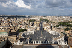 View from the Dome of St. Peter's Basilica in the Vatican City, Royalty Free Stock Image