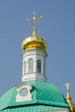 View of the dome of the tower over the main entrance to the holy gate at Holy Trinity St. Sergius Stock Photography
