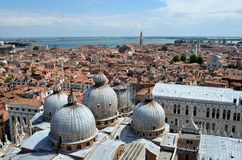 View of the domes of the Cathedral of St. Mark. Stock Photography