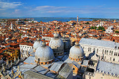 View of the domes of St Mark`s Basilica in Venice, Italy Stock Photos