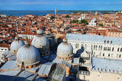 View of the domes of St Mark`s Basilica in Venice, Italy Royalty Free Stock Photography