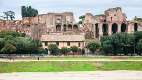 View of Domus Severiana and Circus Maximus in Rome Royalty Free Stock Photography