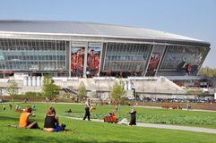 View on the Donbass-Arena Stock Photography