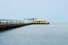 View  Donsak Pier, Surat Thani, Thailand. Stock Images