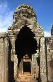 View through door entrance to a statue of bayon Stock Photo