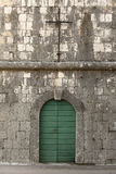 A view of a door in an old mediterranean village Royalty Free Stock Photo