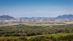 North Korea and DMZ stock photo