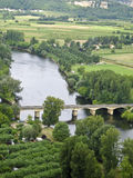 VIEW OF THE DORDOGNE RIVER, DOMME, FRANCE Royalty Free Stock Photos