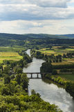 View of the Dordogne river from Domme Royalty Free Stock Photography