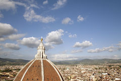 View of Doumo Cathedral Dome and the City of Florence Stock Image