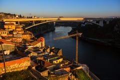 View of Douro river at dusk, Porto Stock Photos
