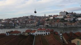 View of Douro River at old Porto. stock video