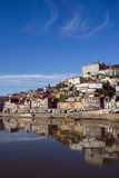 View of Douro river - Porto. View of Douro river embankment of Porto city, Portugal stock photography