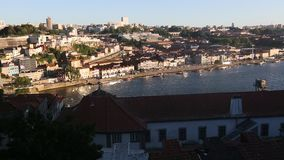 View of Douro river and Porto Old Town. stock video