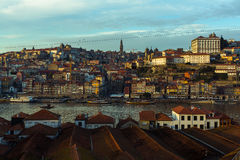 View of Douro river at Porto old town Stock Photo