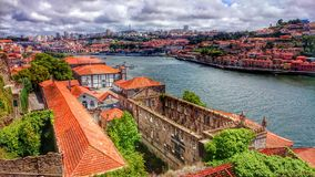 View on Douro River in Porto royalty free stock photos