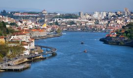 View on Douro River in Porto stock photo