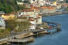View on Douro River in Porto royalty free stock photos