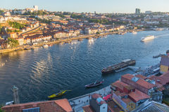 View of the Douro river and Ribeira in the historic centre of City Stock Photos