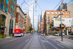 View down Adelaide Street East Royalty Free Stock Photos