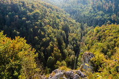 View down on beautiful landscape in Swabian Alb Stock Photography