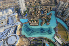 View down from Burj Khalifa Royalty Free Stock Photos