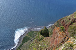 View down from Cabo Girao in Madeira, Portugal Royalty Free Stock Photo
