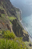 View down from Cabo Girao in Madeira, Portugal Stock Photography