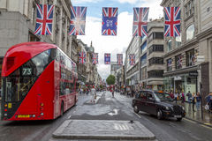 View down the center of Oxford street Stock Images