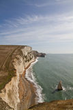 View down the Dorset coastline Stock Photo