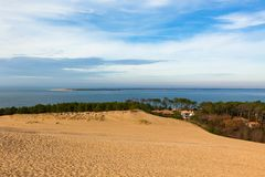 View down from the dune of Pyla Royalty Free Stock Image