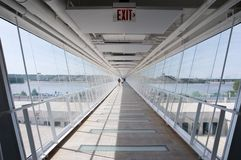 View down an elevated skyway Royalty Free Stock Photography