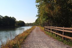 Towpath on the Erie canal Stock Photo