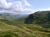 View down Far Easedale, Lake District Royalty Free Stock Photo