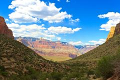View Down From the Hike out/into the Grand Canyon. Towards the Colorado River royalty free stock photo