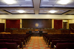 View down the isle of the idaho state auditorium Royalty Free Stock Images