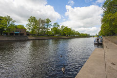 View down a large river in england Royalty Free Stock Image