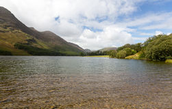 View down length of Buttermere in Lake District Royalty Free Stock Photos