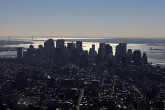 View of down Manhattan Stock Images