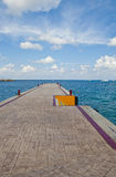 View Down the Pier Royalty Free Stock Photography