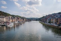 The River Meuse in Dinant royalty free stock images