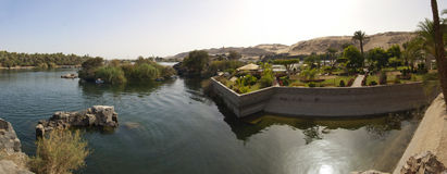 View down the River Nile with cataracts Stock Photography