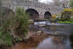 Bridge on the River Dart stock images