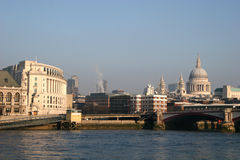View down River Thames Stock Image