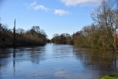 Thames at Sonning. A view down the River Thames at Sonning Common Royalty Free Stock Image