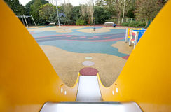 View down a slide in a playground Royalty Free Stock Photography