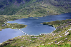 View down from Snowdon summit Royalty Free Stock Photos