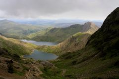 View down from Snowdon summit Royalty Free Stock Photo