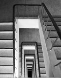View down in stairwell. stock image