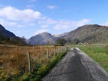 View down Thorneythwaite path to Base Brown, Lake District Royalty Free Stock Photo